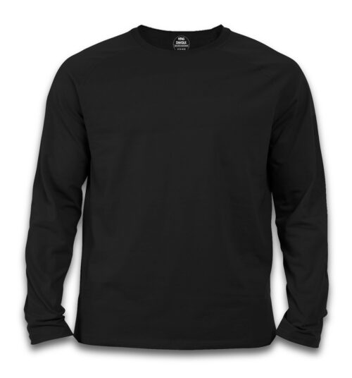 Customize Black Full Sleeve T Shirts Online