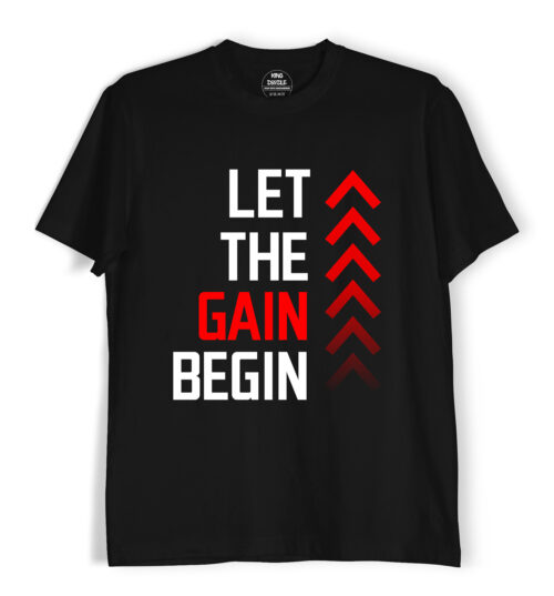 let the gain gym t shirts for men and women