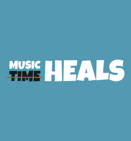 music heals tee