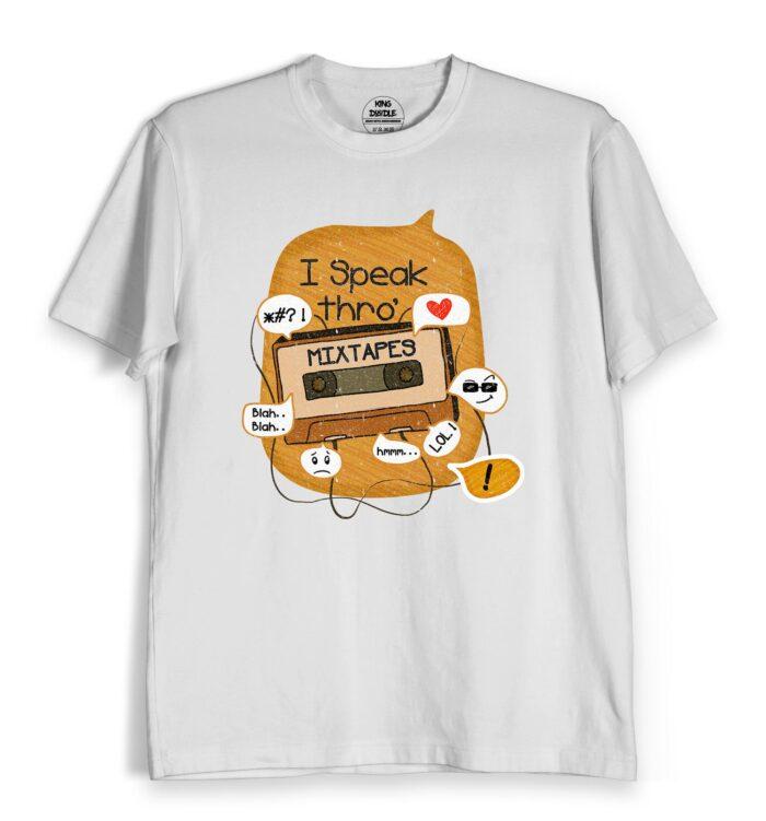 music t-shirts online speak through
