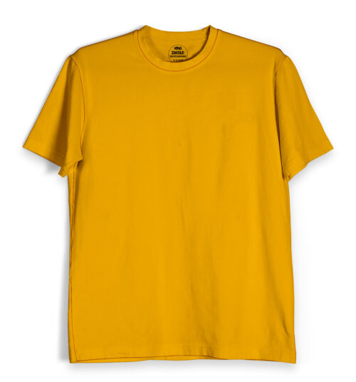 Golden Yellow Plain T Shirts Online