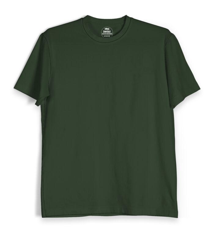 Olive Green Plain T Shirts Online India
