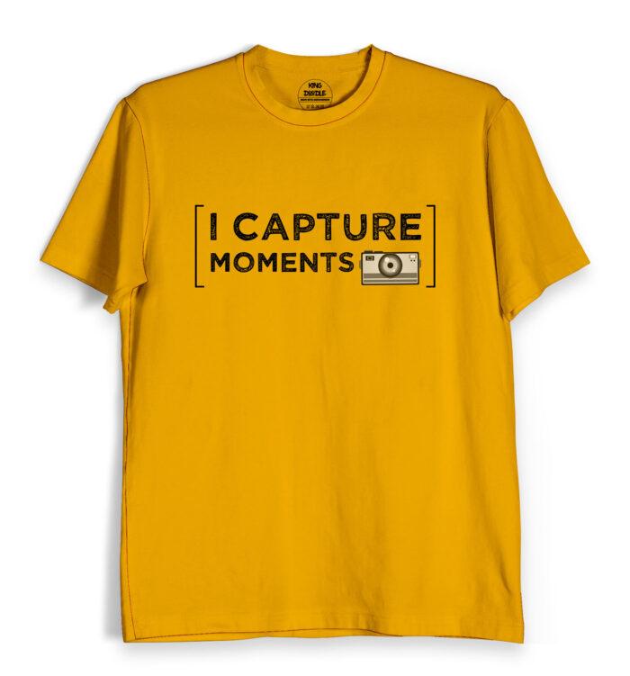 camera print t shirt