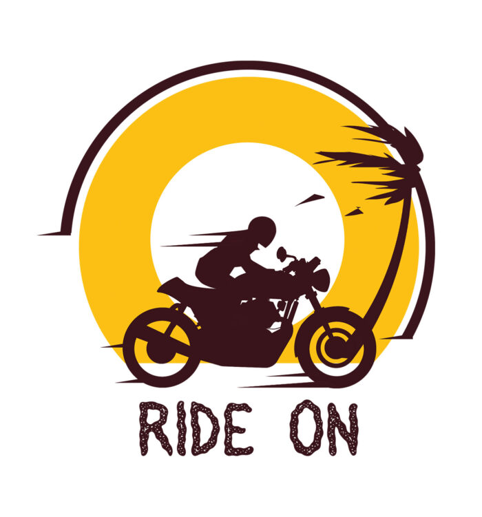 Ride on travel themed tee online