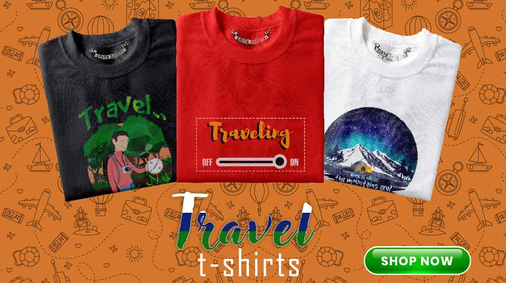 Travel themed t shirts Online in India for women and men