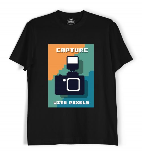 Capture-with-Pixels-Photographer-T-Shirts