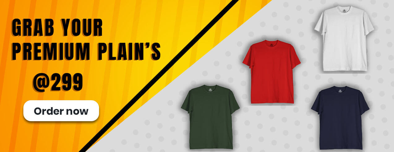 Best place to buy plain t shirts for men & women online India